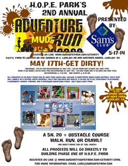 Adventure Mud Run Flyer 2014